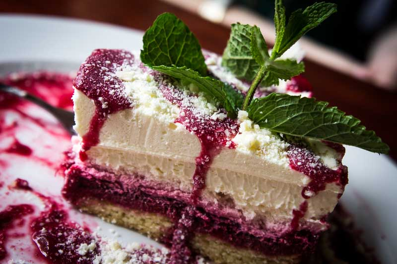 Cheesecake With Ginger-Lime Candied Raspberries Recipe ...