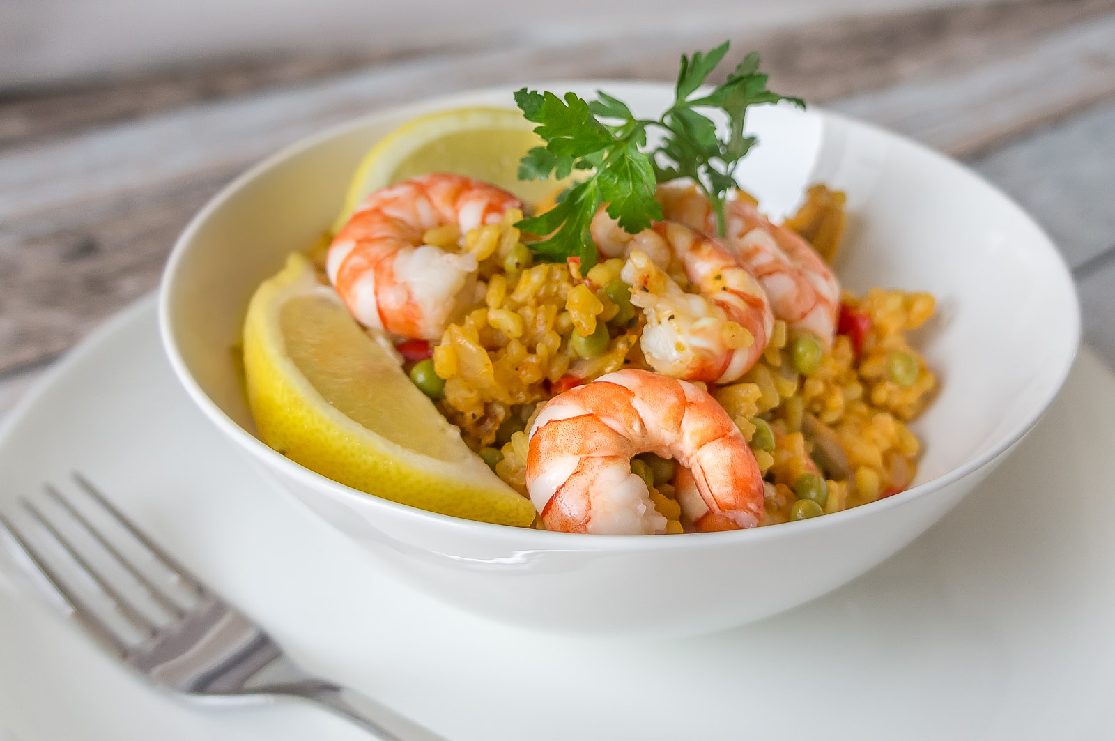 Easy paella with chicken and prawns - recipe - Daily Gourmet
