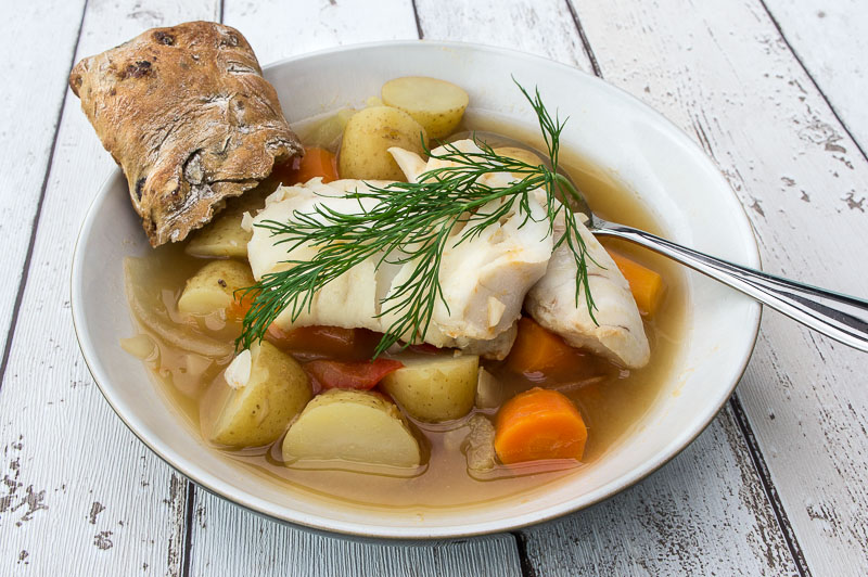 Greek fish stew kakavia recipe daily gourmet for Fish stew with potatoes