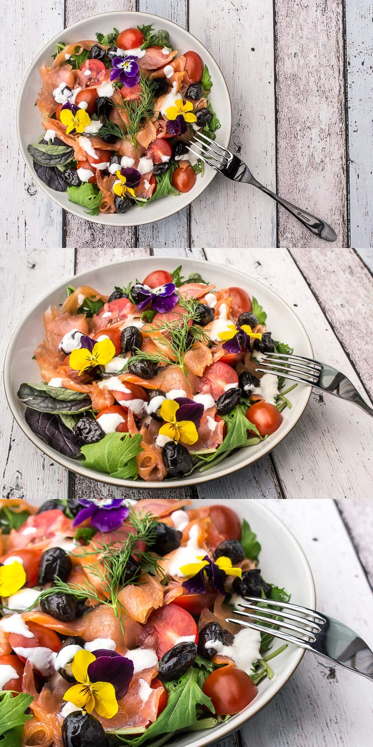Smoked Salmon Salad Recipe Daily Gourmet